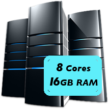 8 core 16GB machine