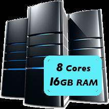 8 core 16GB machine
